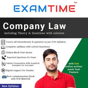 CS Executive Examtime company law by anupama shukla