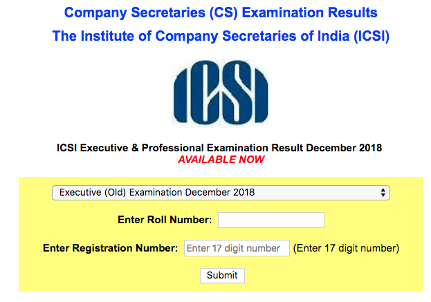 CS Executive Result Dec 2018