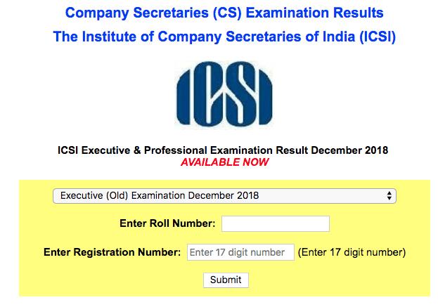 CS Executive Result Dec 2018