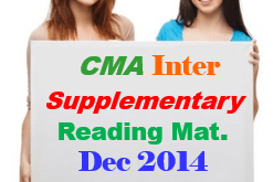 CMA Inter Supplementary Study Material