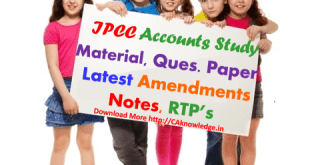 IPCC Accounts Latest Notes, Amendments, Updates For May 2017