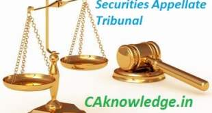 Securities Appellate Tribunal CAknowledge