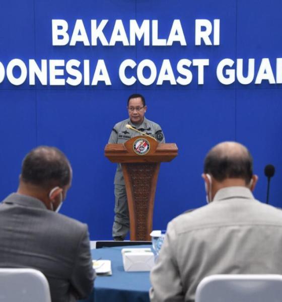 Kepala Bakamla RI Laksdya TNI Dr. Aan Kurnia, menerima sejumlah tamu penting. Wakil Ketua DPD RI Letjen TNI Marinir (Purn) Dr. Nono Sampono