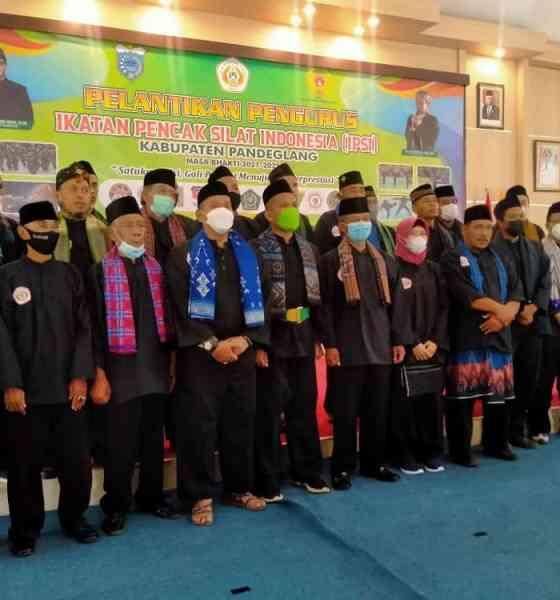 Pelantikan Ketua IPSI Kabupaten Pandeglang Dadan Saladin berjalan dengan lancar , pengukuhan di gelar di Pendopo Bupati Pandeglang