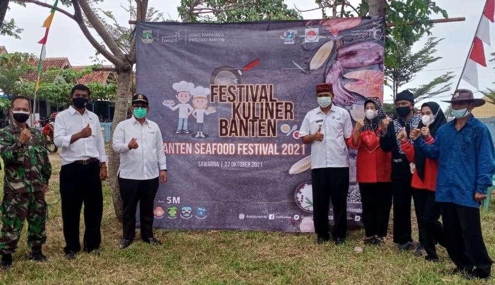 Festival Kuliner Banten, di selenggarakan di Pantai Ciantir Desa Sawarna Kecamatan Bayah Kabupaten Lebak Provinsi Banten