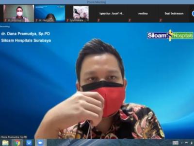 Foto tangkapan layar acara gathering yang digelar Siloam Hospital Surabaya