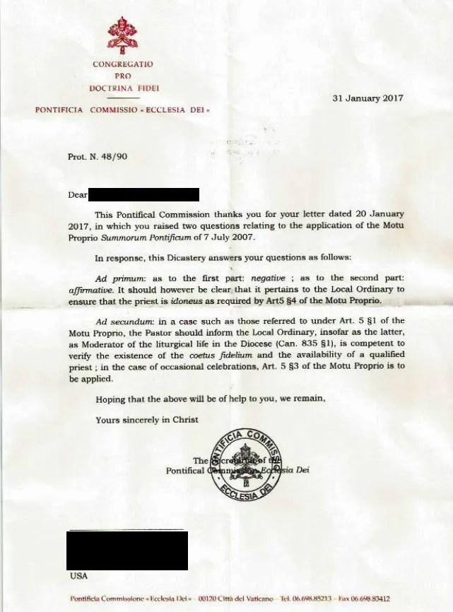 Good news for Latin Mass lovers – 20 Feb 2017