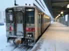 キハ54 雪の稚内駅