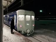 北斗星 雪まみれ函館 カニ