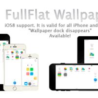 iOS8/9/10.2/iOS11対応ドックが消える壁紙「FullFlat (pure white) wallpaper」リリースしました・iPhone全機種とiPhone8/8 Plus,iPad対応