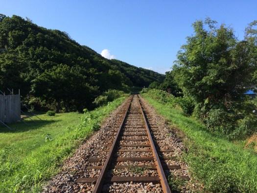 阿分駅から増毛方向
