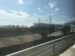車内から東海道新幹線