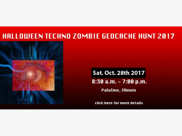 oct 28 3rd annual halloween techno zombie geo cache hunt in