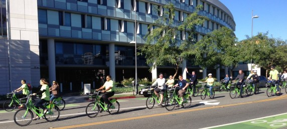 The city of Santa Monica opened their 500-bike Breeze bike-share last month. Photo: Joe Linton/Streetsblog L.A.