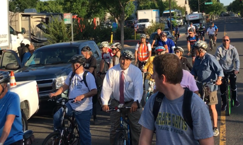 Modesto Mayor's Ride at 11th and K Streets. Photo: Michael Sacuskie