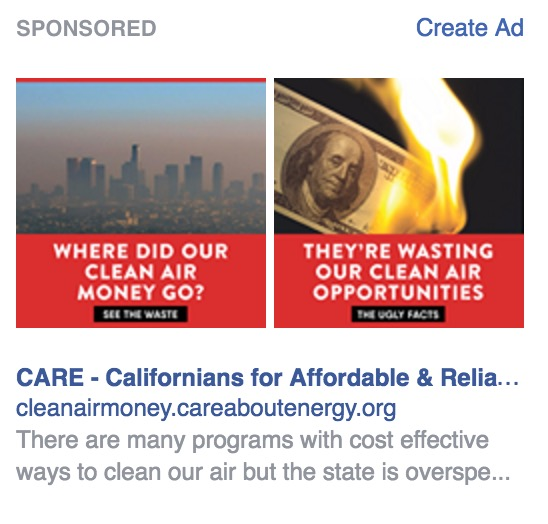 CARE is paying for Facebook ads to get some traction for its faulty reasoning.
