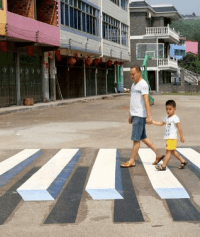 Crosswalks don't have to be boring. Photo: Feature China/Barcroft Media via the Guardian