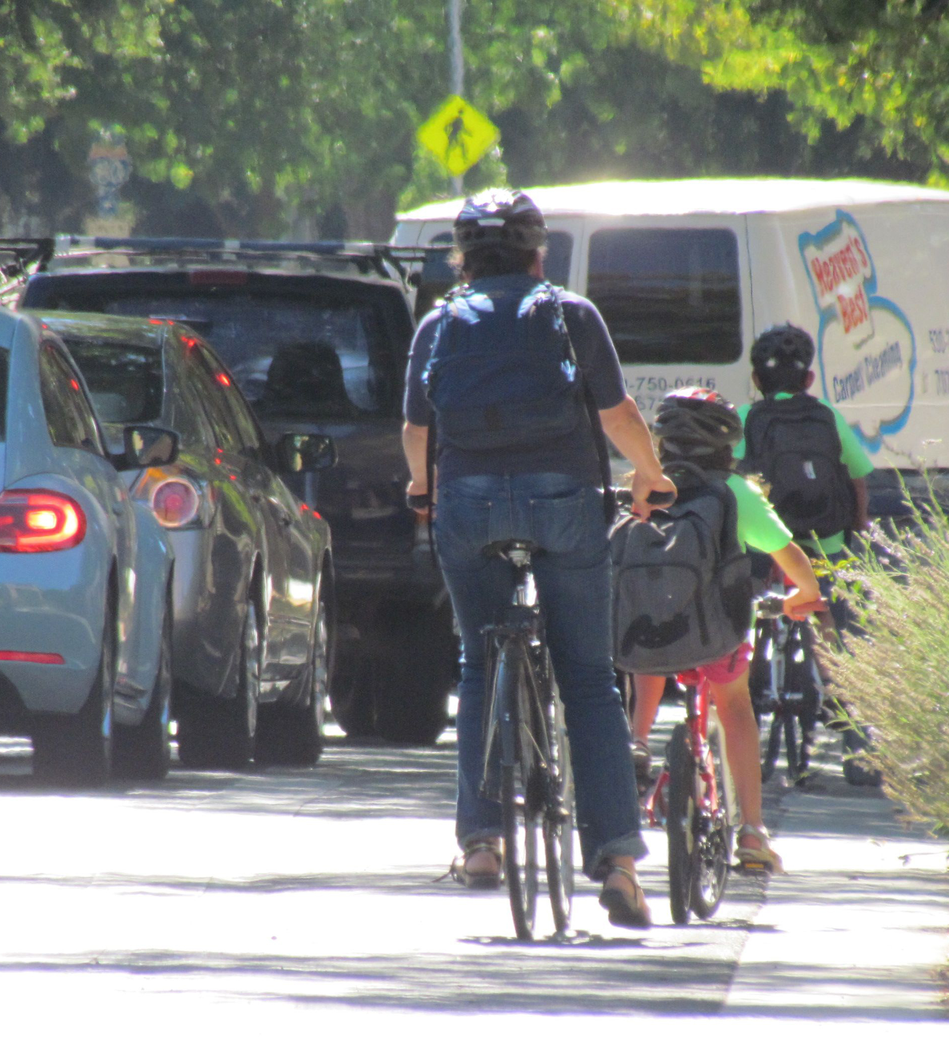 If we want people to drive less and use active modes more, we need to make sure our transportation funding plans reflect that. Photo: Melanie Curry/Streetsblog