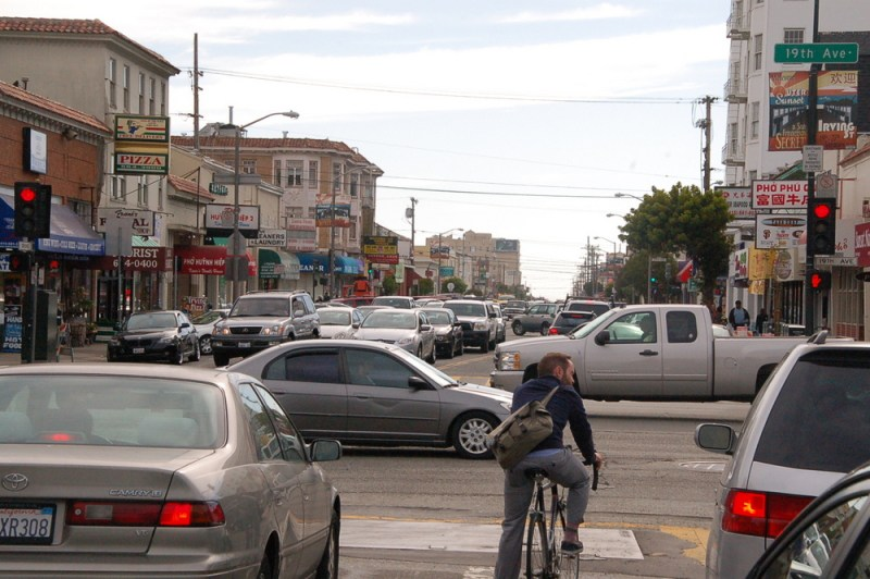 congested urban intersection scene - image link to source article