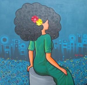 Reflections II (Afro Series) by Abigail Nnaji