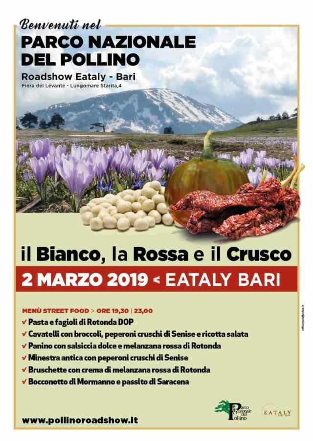 I sapori del Parco del Pollino approdano a Eataly Bari 2 marzo 2019 locandina
