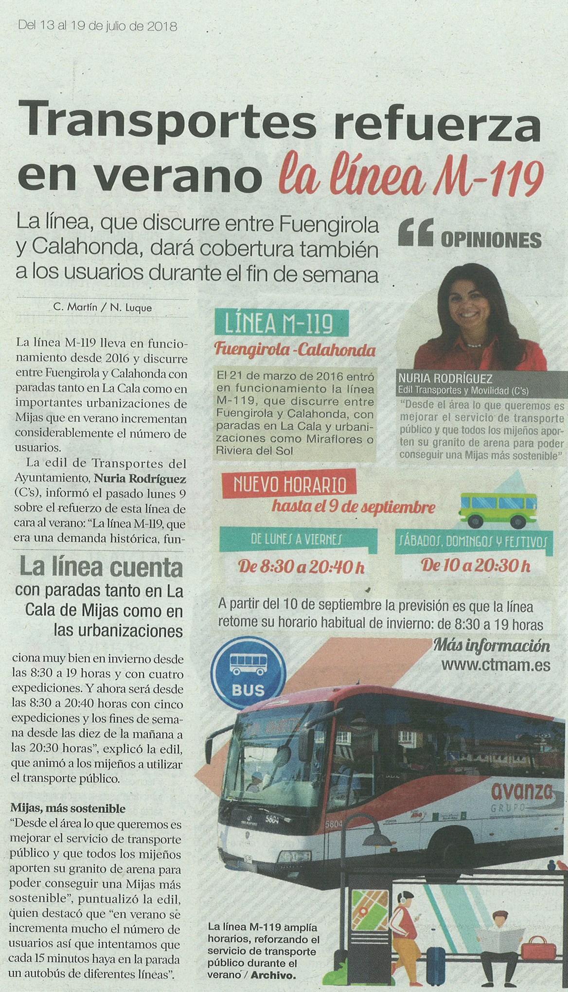 M 119 Bus Line Sitio De Calahonda Euc