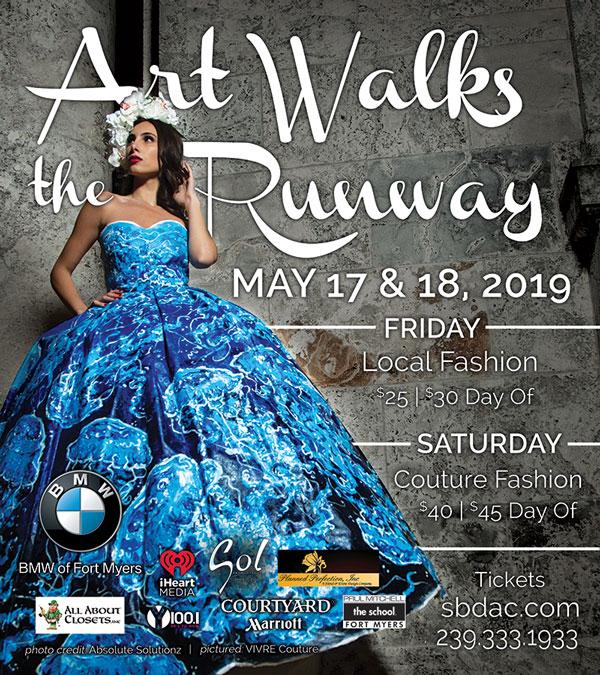 art walks the runway