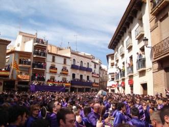 Plaza de España durante la Rompida de la Hora