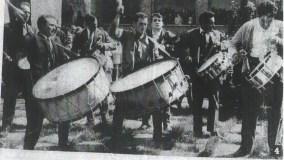 Cuadrilla de Tomás Gascón en el concurso de tambores de Hïjar