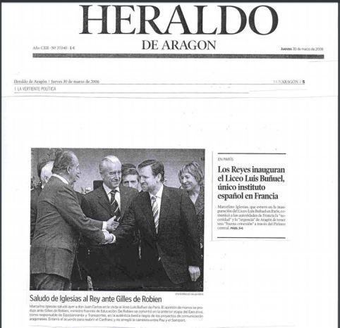 Heraldo de Aragón 30 de Marzo de 2006