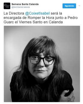 Isabel Coixet romperá la hora en Calanda - Semana Santa 2017