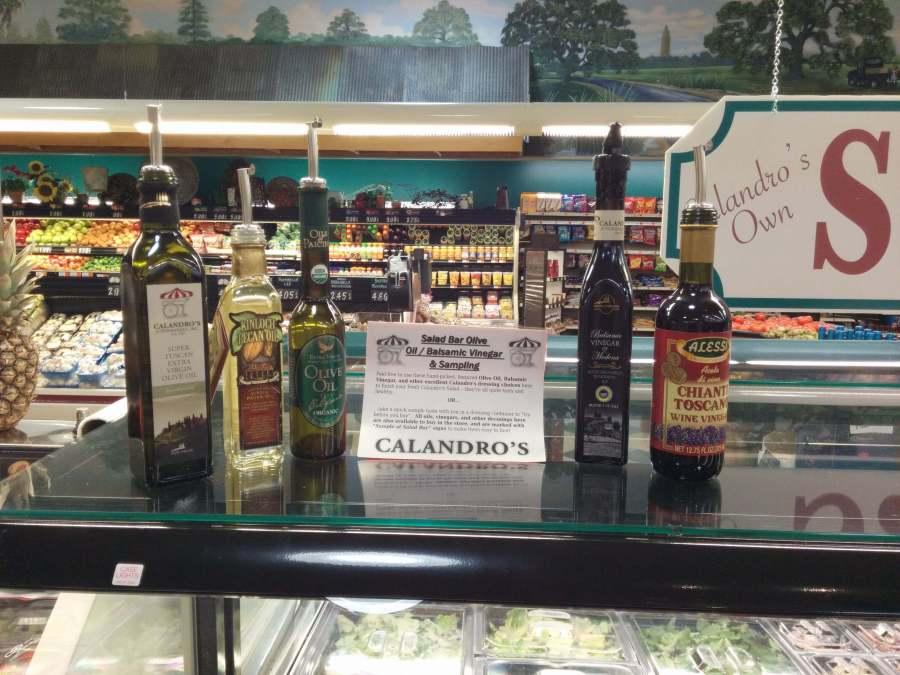 Calandro's New Salad Bar Oil / Vinegar Dressings & Samples