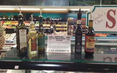 Calandro's New Salad Bar Oil / Vinegar Dressings & Samples