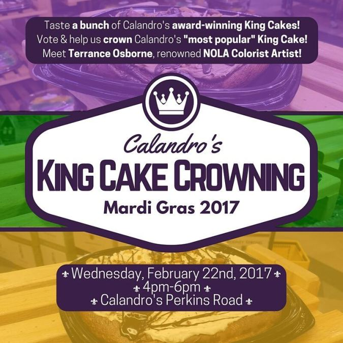 Folks, we're officially crowning a Calandro's #kingcake and we need all the help we can…