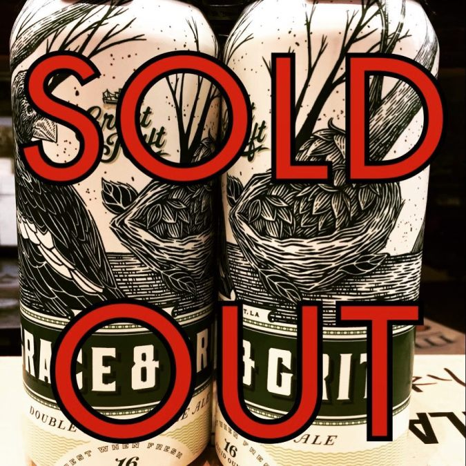 We are now sold out of @greatraftbeer Grace and Grit at our Perkins Rd location!…