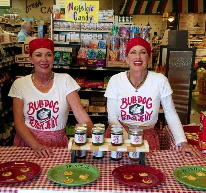 @bulldogpepperjelly is at Calandro's Perkins *right now* until 3pm for their very first tasting and…