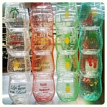 New summertime Wine-Oh plastic wine glasses available at @calandrosmkt Perkins! $12.99 for a set of…