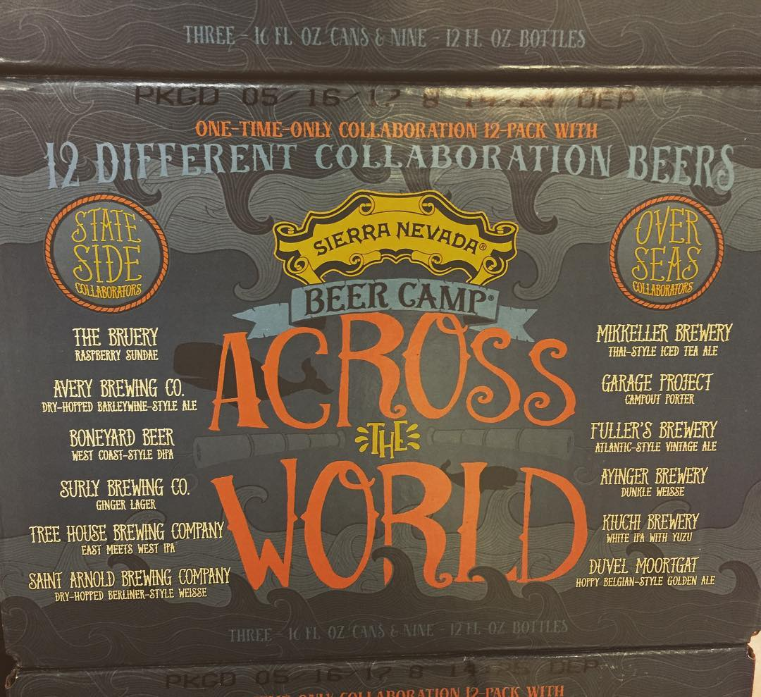 @sierranevada Beer Camp Across the World Collaboration Series is now available at our Perkins Rd…