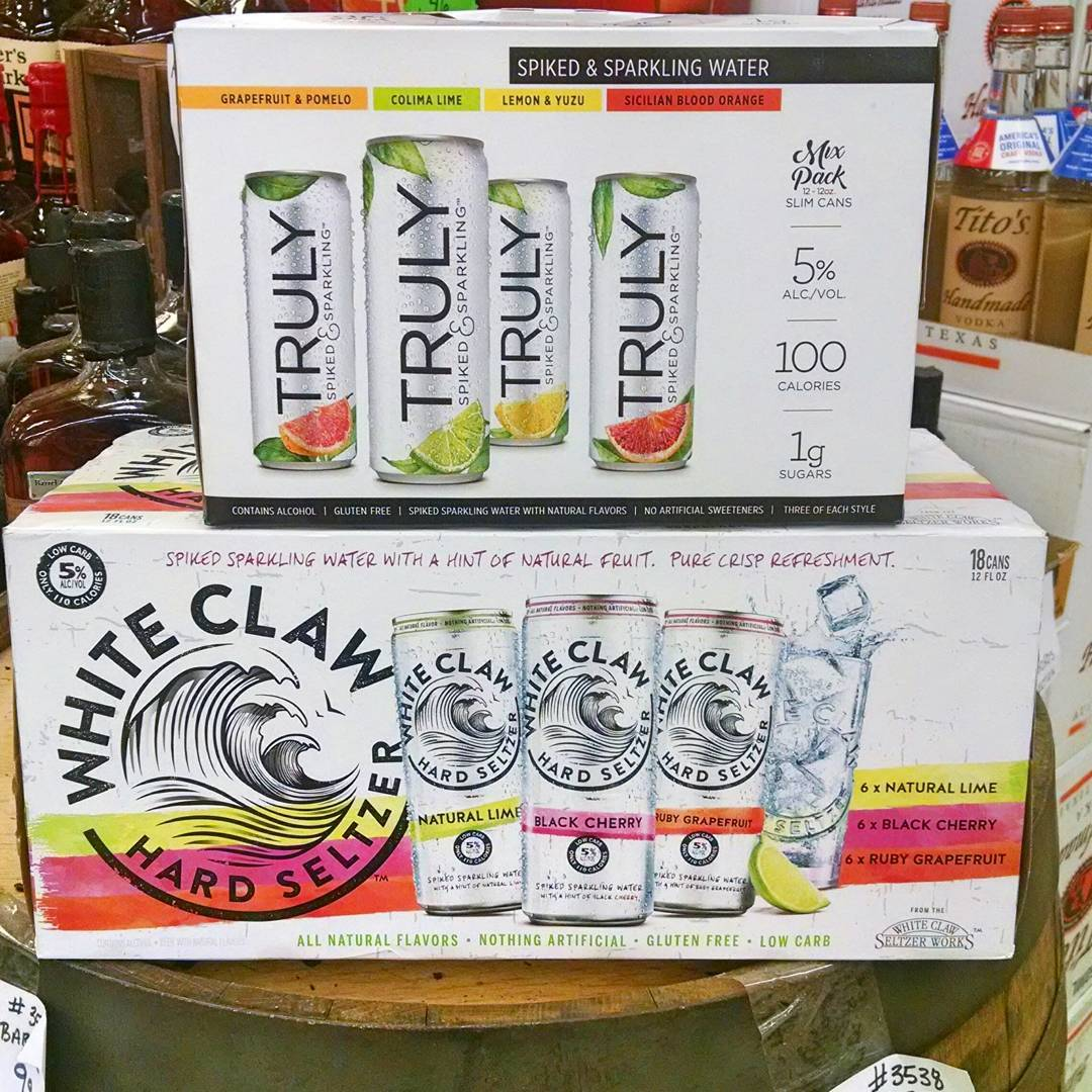 Beat the heat with refreshing spiked soda water! @trulysparkling and @whiteclaw are available at our…