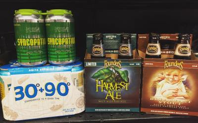 New brews in stock at our Perkins Rd location today! @nolabrewing @abitabeer @foundersbrewing #beer #brewsday…