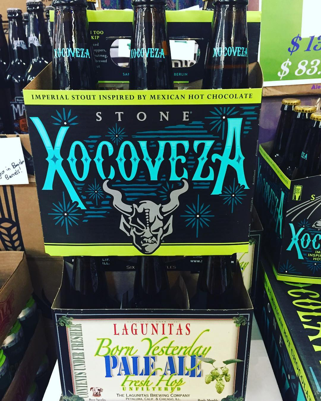 @stonebrewing Xocoveza and @lagunitasbeer Born Yesterday Pale Ale are both now in stock at our…
