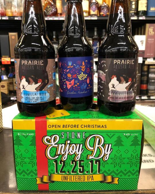 New brews now in stock at our Perkins Rd location! @prairieales @stonebrewing #beer #barrelaged #newbrewthursday…