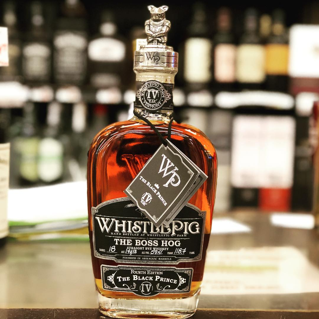 "We just received the Fourth Edition of @whistlepigwhiskey The Boss Hog, ""The Black Prince"" at…"