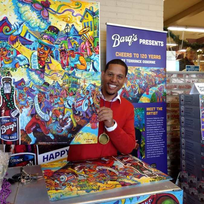 @terranceosborne is here y'all! @calandrosmkt 'til 6p with a huge #kingcake tasting & voting table,…