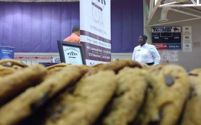 Ready to go @woodlawnhighbr #jobfair. Swag = fresh baked cookies, of course! #letsgo #gopanthers #jobs…