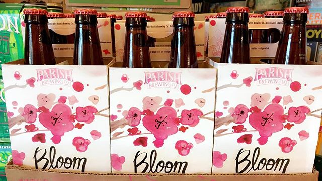 Spring is in full #Bloom according to @parishbrewingco! Available now at our Government Street location….