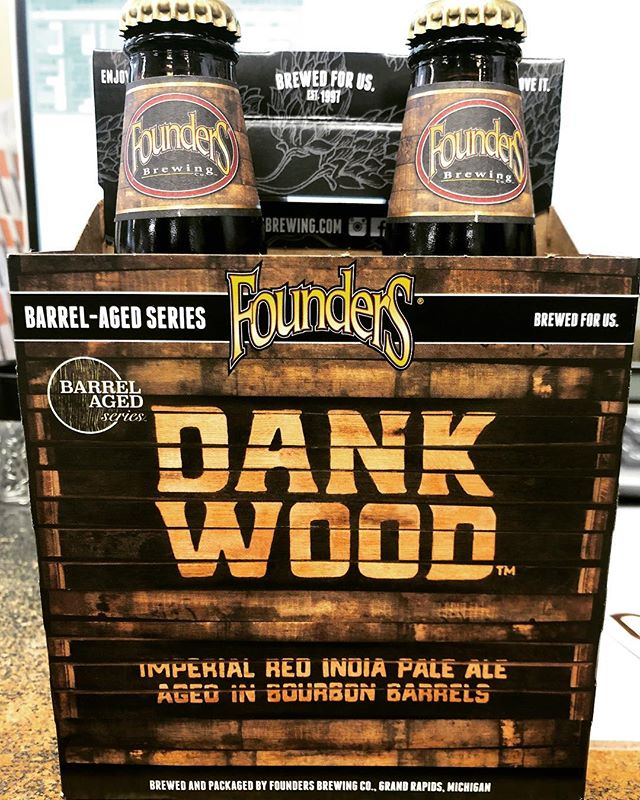 @foundersbrewing Dank Wood, Imperial Red IPA Aged in Bourbon Barrels, is now in stock at…