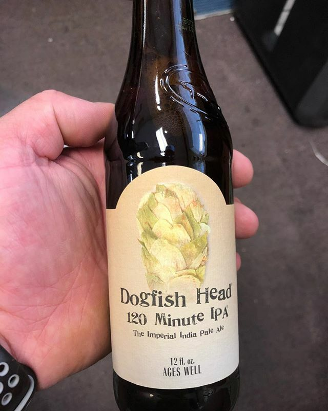 The world famous @dogfishhead 120 Minute IPA is now in stock at our Perkins Rd…