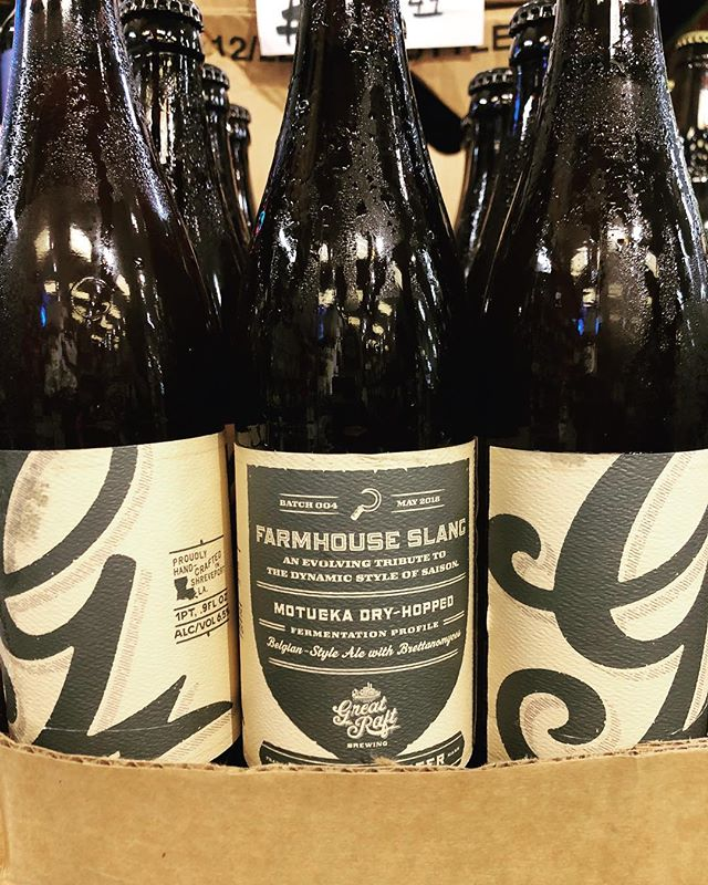@greatraftbeer Farmhouse Slang is now available at our Perkins Rd location! #beer #newbrewthursday #drinklocal #farmhousestyle…