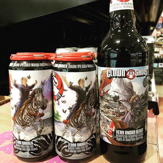 @clownshoesbeer Zebra WarrenDouble IPA with mango and pink guava and Very Angry Beast Bourbon Barrel…